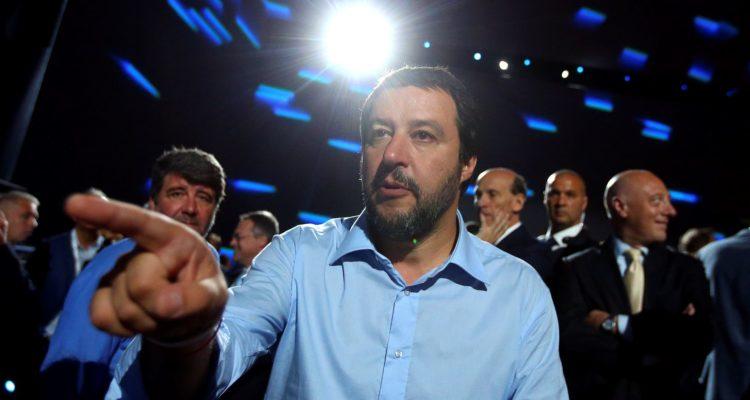 L'exministre de l'Interior italià, Matteo Salvini, a Roma. Foto: Reuters / Tony Gentile.