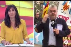 Connexió en directe durant la cobertura d'À punt del 9 d'octubre