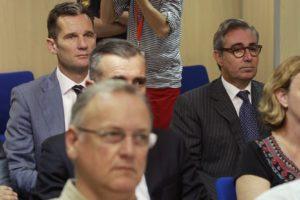 Iñaki Urdangarin i el seu exsoci Diego Torres durant el judici del 'cas Nóos'. Foto: EFE.