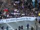Capçalera de la manifestació central a Barcelona de la vaga feminista del 8 de març de 2018. Foto: Gemma Sánchez / ACN.