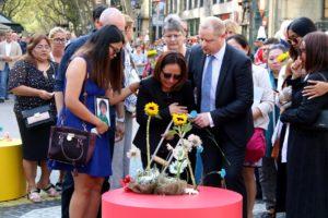 Famílies de les víctimes dels atemptats de Barcelona i Cambrils