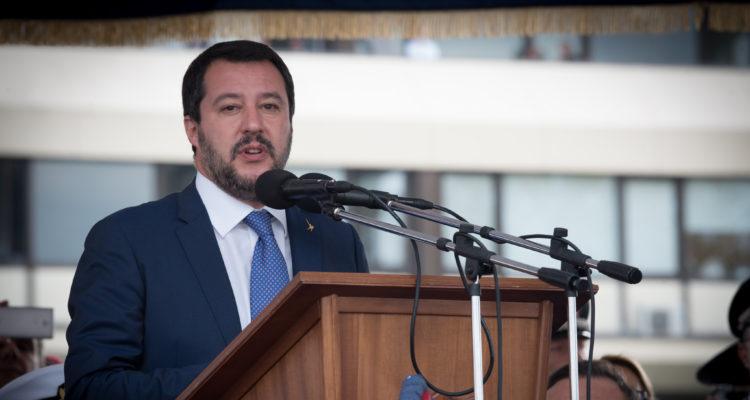El viceprimer ministre italià Matteo Salvini, a l'acte del 40è aniversari de la creació del Grup d'Intervenció Especial (GIS) dels Carabinieri, l'octubre passat. Foto: Ministeri de Defensa italià.