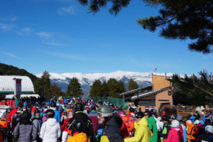L'estació d'esquí deLa Masella, plena d'esquiadors pel pont de Tots Sants. Foto: La Masella.