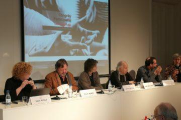 Presentació de les conclusions en matèria de comunicació del Congrés Catalunya Futur, el novembre de 2018 al Col·legi de Periodistes de Catalunya. Foto: CatFutur.