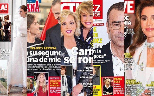 Portades de les principals revistes del cor espanyoles, el desembre de 2018.