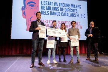 Premi Barnils de Periodisme d'Investigació en categoria d'obra publicada. Foto: Jordi Borràs.