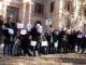 Concentració de periodistes al davant del TSJC a Barcelona per defensar el secret professional arran del cas 'Cursach', el 14 de desembre del 2018. Foto: Miquel Codolar / ACN.