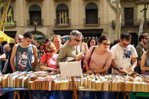 Fotografia d'arxiu de Sant Jordi 2018. Foto: Ajuntament de Barcelona