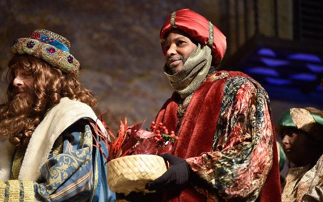 El rei Baltasar a la cavalcada de Sant Cugat del Vallès. Foto: Ajuntament de Sant Cugat.