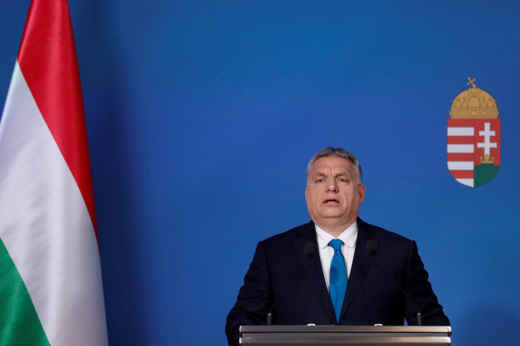 El primer ministre d'Hongria, Viktor Orbán, en roda de premsa des de Budapest el 10 de gener del 2019. Foto: Reuters / Bernadett Szabo.