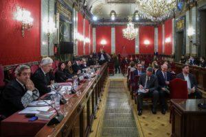 El judici als líders del procés independentista se celebra al Tribunal Suprem espanyol, a Madrid. Foto: Pool EFE.