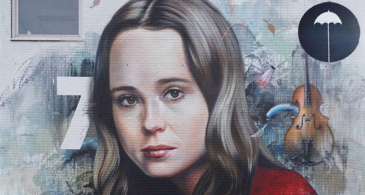 Un mural de l'actor transgènere Elliot Page als Països Baixos, en una imatge de 2009. Foto: Roel Wijnants.