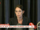 La primera ministra de Nova Zelanda, Jacinda Ardern, en declaracions a la televisió després dels atemptats contra dues mesquites a Christchurch, divendres. Foto: TVNZ/via REUTERS TV.