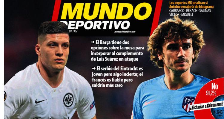 La portada de 'Mundo Deportivo', ahir, especulava sobre possibles fitxatges al primer equip masculí i relegava molt més avall la prèvia del partit de Champions de l'equip femení.