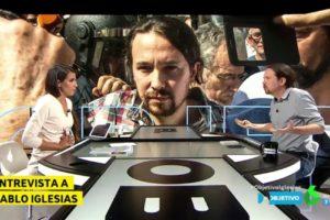 Ana Pastor entrevista Pablo Iglesias a 'El Objetivo', diumenge passat. Foto: La Sexta.