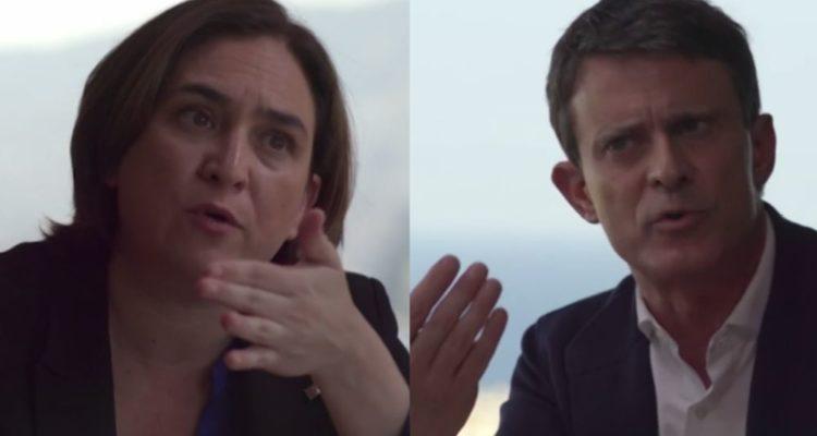 Ada Colau i Manuel Valls van protagonitzar un cara a cara al programa 'Salvados' de Jordi Évole. Foto: Verificat.