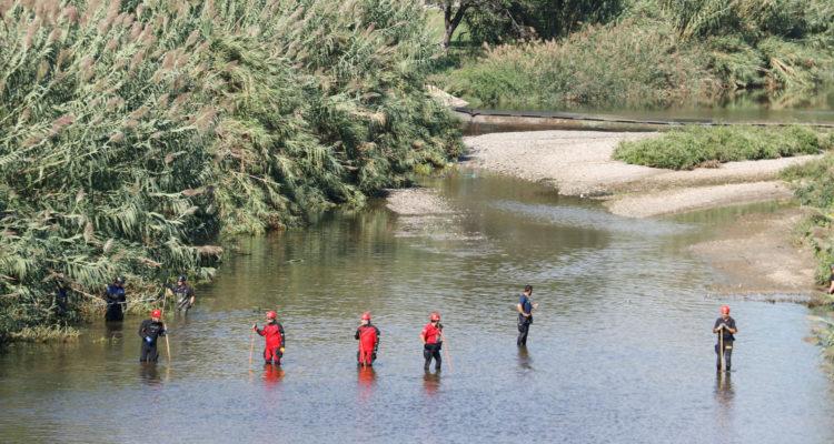 Dispositiu de recerca del nadó abandonat al riu Besòs, el setembre de 2019. Foto: Marina Llibre / ACN.