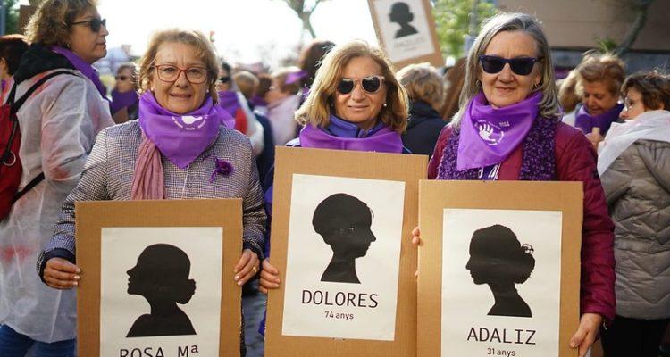 Marxa comarcal contra la violència masclista al Baix Llobregat, el 25 de novembre de 2019. Foto: Ajuntament d'Esplugues de Llobregat.