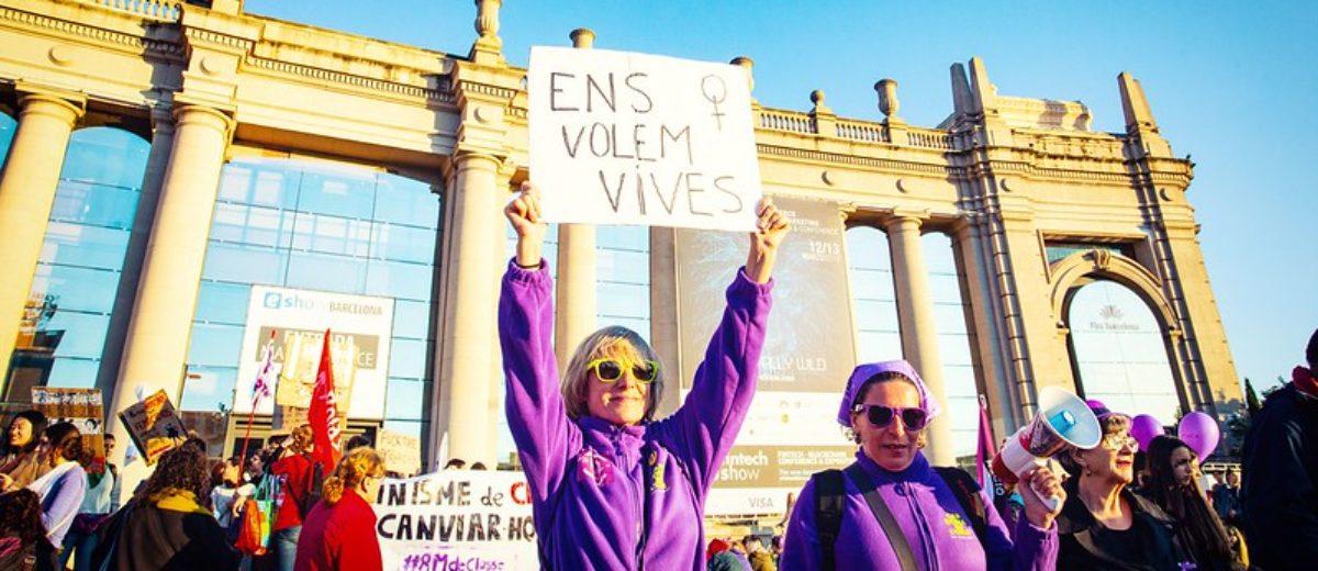 Manifestació del 8 de març de 2019 a Barcelona. Foto: Ajuntament de Barcelona