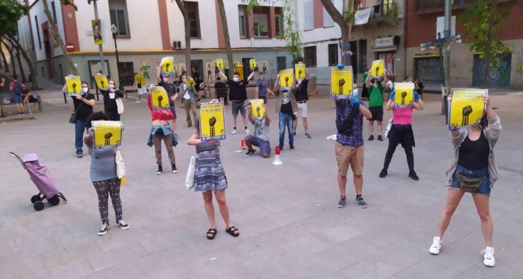 Manifestació del Sindicat de Llogateres el 2 de maig a Barcelona. Foto: @SindicatLloguer