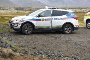 Cotxe la policia a Islàndia. Foto: Wikipedia