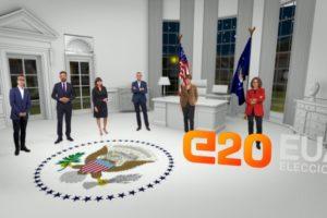 Programa especial per a les eleccions dels Estats Units de novembre de 2020 a TV3. Imatge: CCMA.