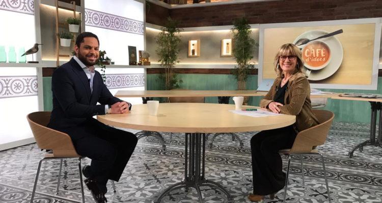 El candidat de Vox a la Generalitat, Ignacio Garriga, entrevistat per la periodista Gemma Nierga a La 2, el 21 de desembre de 2020. Foto: RTVE.