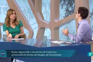 Toni Pou tracta qüestions de medi ambient al programa 'En Línia' de Televisió Espanyola a Catalunya. Imatge: TVE.