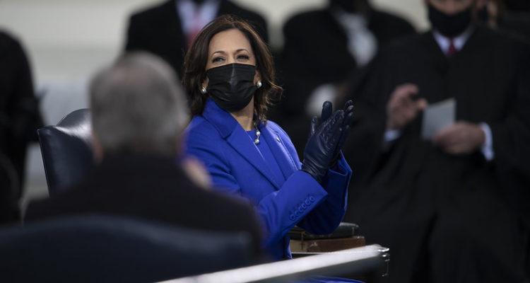 La vicepresidenta dels Estats Units, Kamala Harris, en la cerimònia de presa de possessió del passat 20 de gener a Washington. Foto: Carlos M. Vazquez / Presidència de l'Estat Major Conjunt dels EUA.