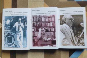 Edicions 3i4 ha publicat recentment reculls de Ramon Barnils, Xavier Vinader i Joan Fuster. Foto: El Temps de les Arts (cedida).