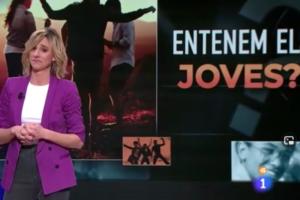 El programa 'Obrim Fil' de TVE va parlar dels joves amb un to que ha estat força criticat a les xarxes. Imatge: RTVE.