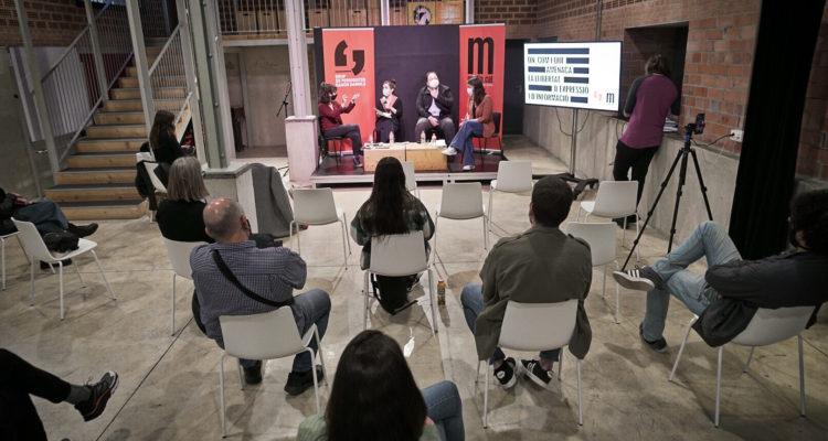 Presentació del nou portal web del Mapa de la Censura. Foto: Sònia Calvó / Mèdia.cat.