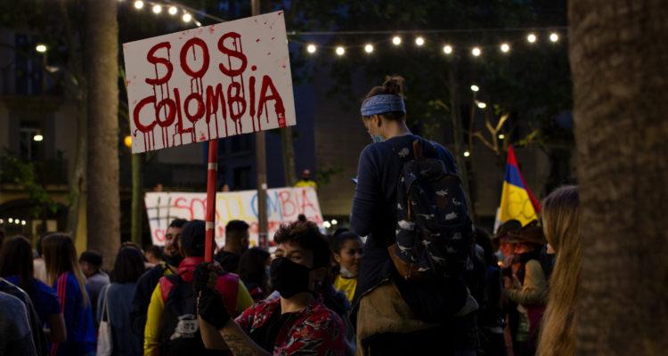 Les protestes a Colòmbia es mantenen des del passat 28 d'abril. Foto: Marta Saiz (cedida).