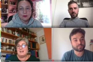 Xerrada sobre imaginaris mediàtics LGTBI+ amb Virginia Villaplana, Jorge Gonzalo, Amparo Huertas i Víctor Yustres.