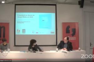Presentació de l'Anuari Mèdia.cat 2020, el 24 de març de 2021 al Col·legi de Periodistes de Catalunya.