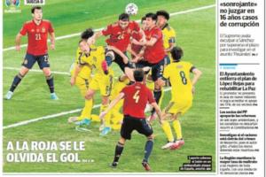 Portada del diari 'La Verdad' amb un petit espai a la dreta a baix per a la notícia de l'assassinat. Foto: captura de la portada de 'La Verdad'.