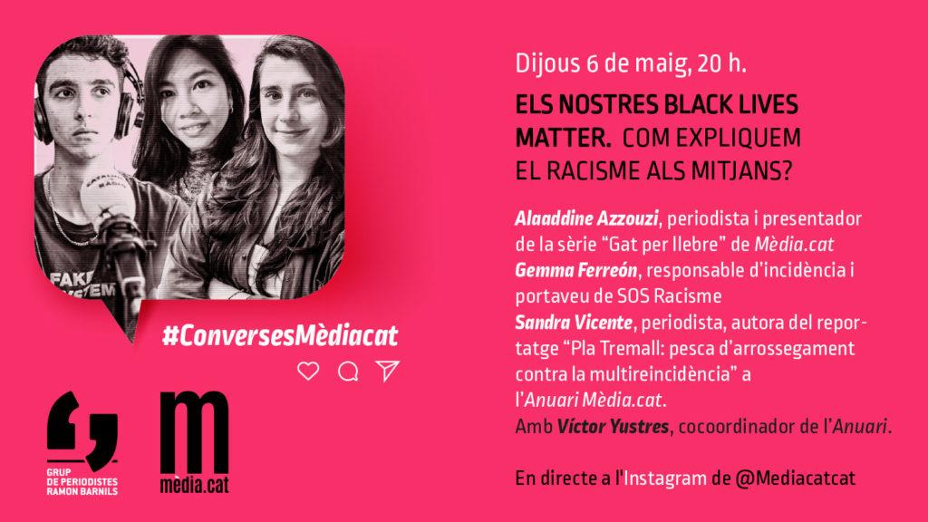 Xerrada sobre racisme a l'Instagram Live de Mèdia.cat.