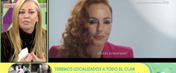 Belén Esteban comenta a 'Sálvame' el programa en què Rocío Carrasco explica que ha estat víctima de violència masclista per part del seu exmarit, Antonio David Flores. Imatge: Mediaset.