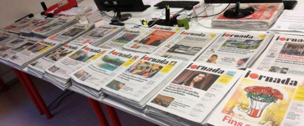 El diari 'Jornada' va sortir per primer cop el 5 de maig de 2018 i va tancar a l'octubre. Foto: Jornada.