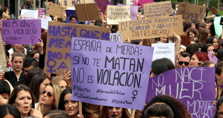 Manifestació per rebutjar la sentència a 'la Manada'. Foto: ACN. Salvador Miret