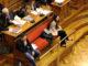 L'acusada pel crim de la Guàrdia Urbana, Rosa Peral, asseguda al costat de l'altre acusat, Albert López, durant el judici. Foto: ACN. Miquel Codolar