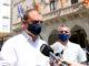 L'alcalde de Terrassa, Jordi Ballart, atenent els mitjans. Foto: ACN. Albert Segura Lorrio