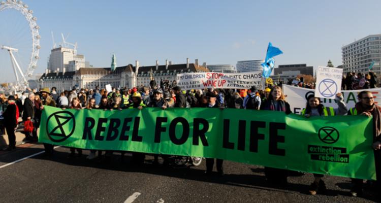 El moviment XR (Rebel·lió o Extinció), ja ha pres volada arreu del món. Foto: @XrBarcelona.